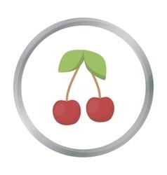 Cherry icon cartoon Singe fruit icon vector