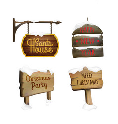 christmas signboards set vector image