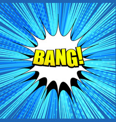 comic bang wording background vector image