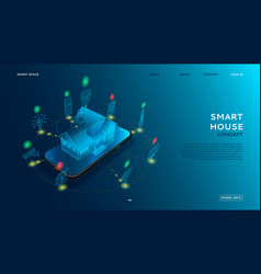 concept of smart house with iot vector image