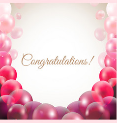Congratulations card with balloons vector
