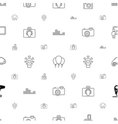 creative icons pattern seamless white background vector image