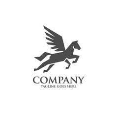 creative pegasus logo modern template vector image