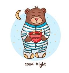 Cute teddy bear 1 vector