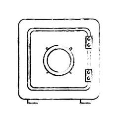 Deposit protection safe box money vector