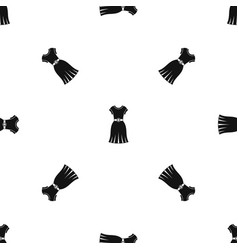 Dress pattern seamless black vector