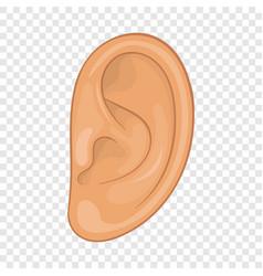 Ear icon cartoon style vector