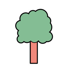 ecology tree to environment care icon vector image