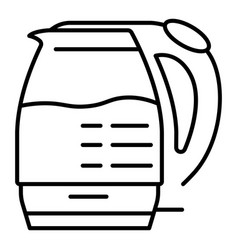 electric glass kettle icon outline style vector image