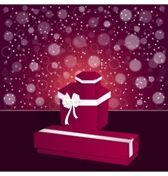 Elegant festive red background with a long and vector image