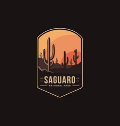 Emblem patch logo saguaro national park vector