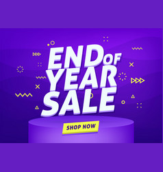 End year sale banner sale banner template vector