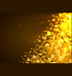 falling from top a lot coins vector image