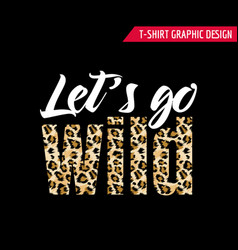 fashionable tshirt design with leopard pattern vector image