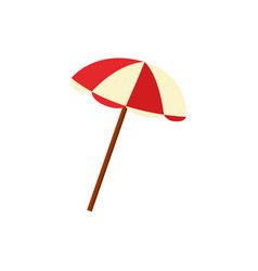 flat beach sun umbrella icon vector image