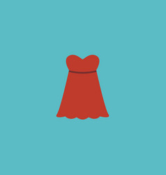 flat icon sundress element of vector image