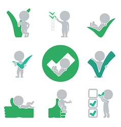 Flat people success vector image