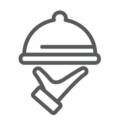 food service line icon hotel and food restaurant vector image