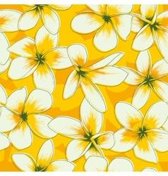Frangipani seamless pattern vector