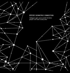 geometric connection background vector image