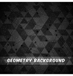 Geometry black background design vector