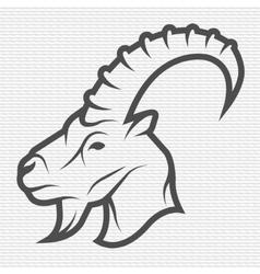 Goat symbol logo emblem vector image