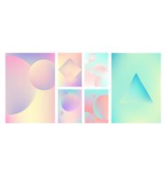 gradient holographic set vector image