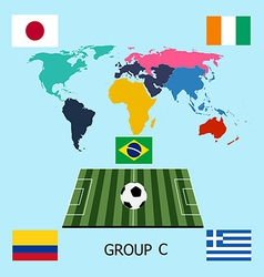 Group C - Colombia Greece Ivory Coast Japan vector image