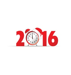 happy new year 2016 clock vector image