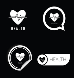 health icon in black and white vector image