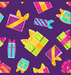 holiday shopping seamless pattern with colorful vector image