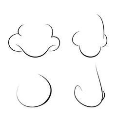 human nose outline design isolated on white vector image