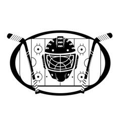 Ice hockey cartoon vector