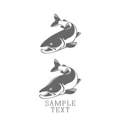 Icons salmon vector