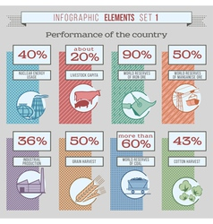 InfogrElements1color vector image