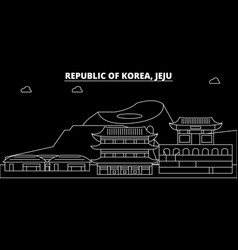 Jeju silhouette skyline south korea - jeju vector