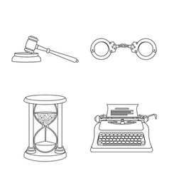 Law and lawyer icon vector