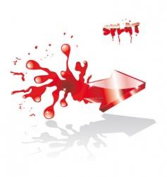 Liquid arrow vector