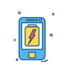 low battery phone icon design vector image