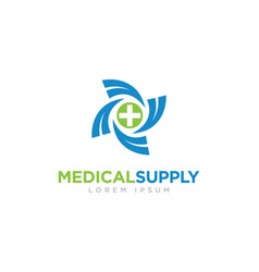 medical supply company business logo vector image