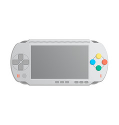 Mobile game console icon in cartoon style vector