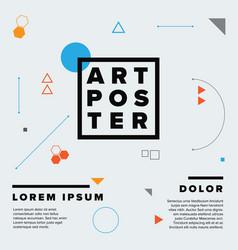 Modern geometry art poster template vector