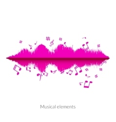 Musical sound wave equalizer stylish concept vector image