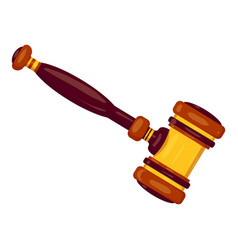 new judge gavel icon cartoon style vector image