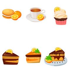 Orange cake or pie vector