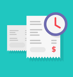 payment schedule time notification reminder or vector image