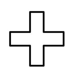 Plus basic element icon vector