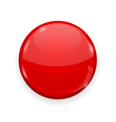 red web button isolated on white background round vector image