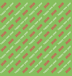 seamless background 2020 happy new year text vector image