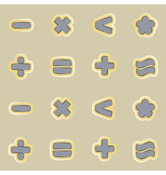 Seamless background with arithmetic symbols vector